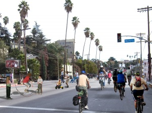 Ciclovia on Sunset