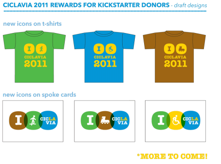 Design Your Own New 2011 CicLAvia Mash-Up T-shirts and Spoke Cards