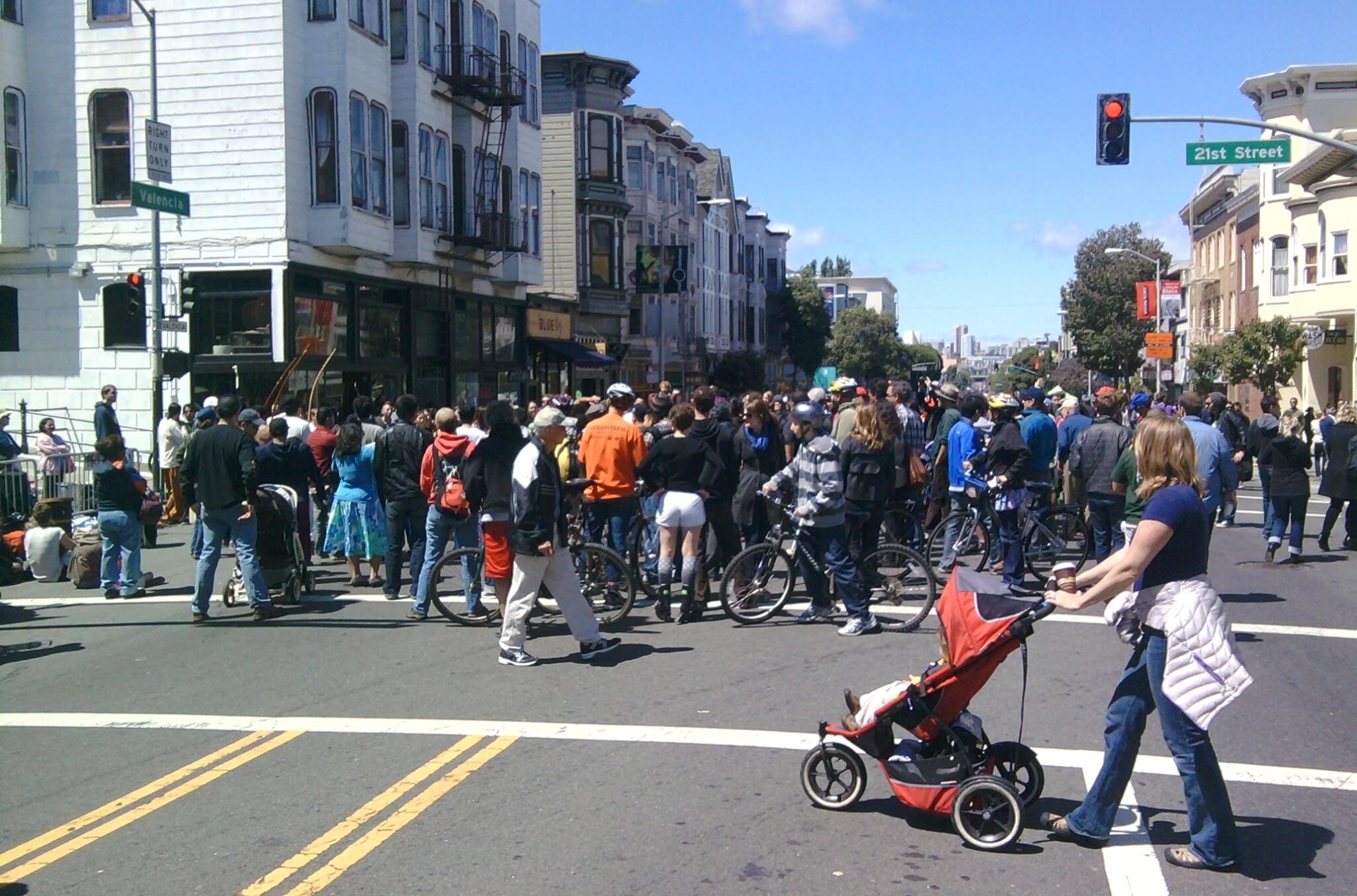 Crowds On Valencia Street